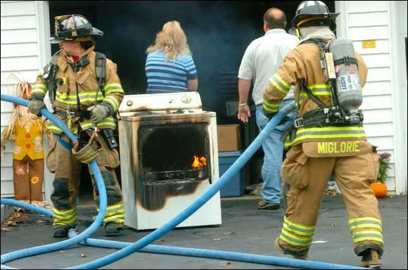 Dryer Lint Increases Fire Risk